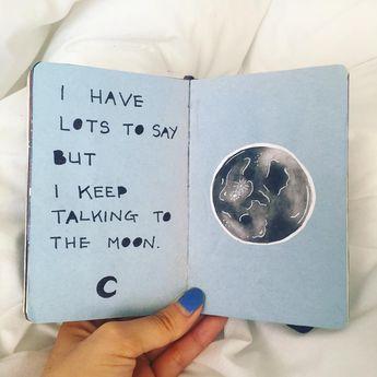 292 отметок «Нравится», 4 комментариев — victoria (@victoiresjournal) в Instagram: «i have lots to say but i keep talking to the moon  • • #artjournal #artjournaling #artjournalpage…»