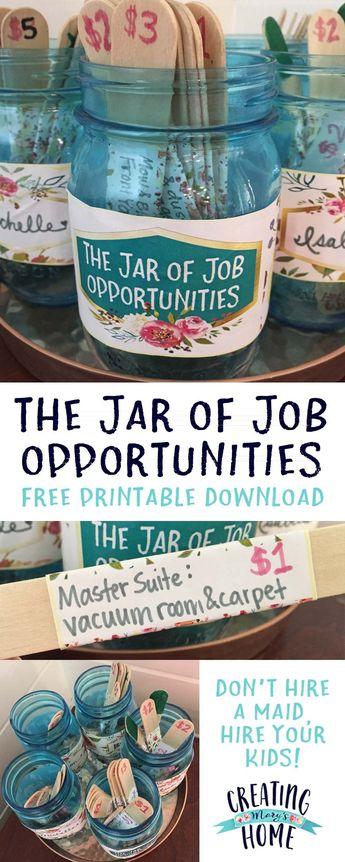 The Jar of Job Opportunities {Money Jar