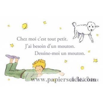 """Carte Le Petit Prince """"Dessine-moi un mouton"""""""
