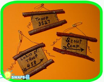 """Mini Fishing Pole   /""""Girl Scout/"""" or /""""Boy Scout/"""" SWAPS  Craft Kit  by Swaps4Less"""