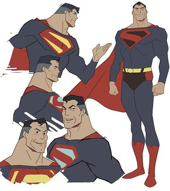 Some Superman drawings I did last year- #superman #kingdomcome #concepts #art #design #style #artdirection #characterdesign #classic…