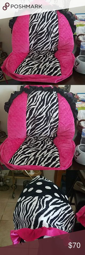 c394a7337b8 Infant car seat cover Zebra print with Pink so soft and lovable baby twin  Other