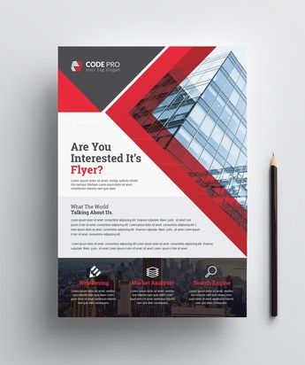 Construction Print Flyer Template - Graphic Templates