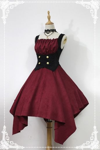 *Neverland*Spectre Concerto gothic lolita Irregular hem jsk dress pre-order