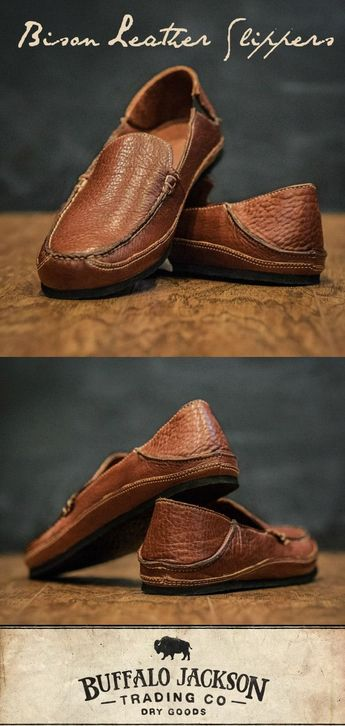 Ashby Bison Leather Slippers | Walnut