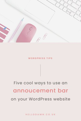 As a super slick alternative to popups, a simple announcement bar is one of my fave ways to encourage visitors to take action without being intrusive. It's ridiculously easy to install on WordPress and I go through five cool ways to use notification bars for different types of content.