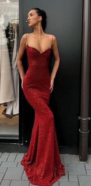 2020 Charming Sexy Spaghetti Straps Cheap Silver Red Sequins Long Prom Dresses,Mermaid Evening Party Dress, PD0978 2020 Charming Sexy Spaghetti Straps Cheap Silver Red Sequins Long Prom Dresses,Mermaid Evening Party Dress, PD0978