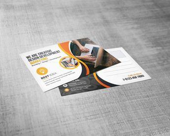 Corporate Post Card Design Template - Graphic Templates