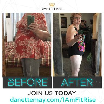 Shout out to Karen Mecham and her success with my #30daynewyouchallenge and Fit Rise program! ✔ 10-20 mins Recipes ✔ 15-minute Workouts ✔ Quick effective Feel Good Meditations ✔ Community support! • ✅ Join us in Our Fit Rise Tribe!  Visit danettemay.com/FitRise • #fitness #workout #healthyfood #healthy #lifestyle #fitrise #fitrisetribe #community #selflove #transformation #beforeandafter #danettemay