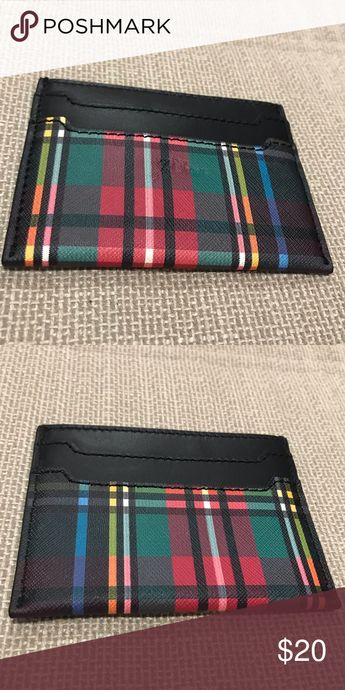 """J.Crew Leather Card Case NWT. J.Crew Leather Card Case. Two card slots on both the front and back. Size: 4""""x3"""". New, never been used. J. Crew Accessories Key & Card Holders"""