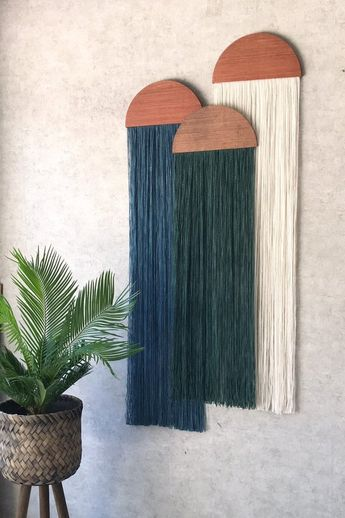Casita,wall hanging,fiber art,mid century modern art,tapestry,wall art,home decor,yarn wall hanging,woven tapestry,macrame,half moon panel