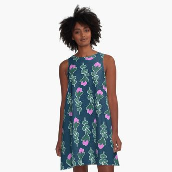 'Vintage Spring #redbubble #pattern' A-Line Dress by designdn