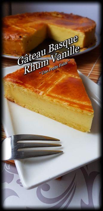 Gâteau Basque Rhum Vanille
