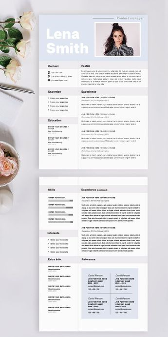 Professional resume / CV template instant download | MS word resume template | resume with cover letter | resume template | Resume template