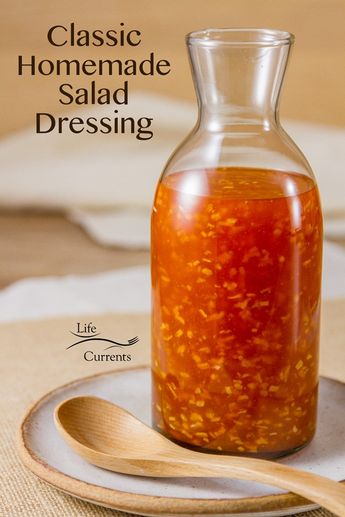 Mom's Salad Dressing This dressing is so delicious! It's my mom's recipe that she made when I was growing up. I think it's how she got me to eat salads as a kid.