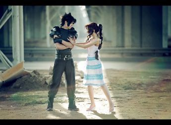 A taste of Final Fantasy VII: Crisis Core.  Oh, you - Zack and Aerith by Narga-Lifestream.deviantart.com
