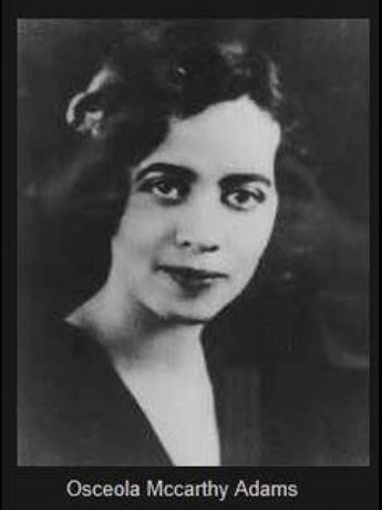Osceola Macarthy Adams (1890-1983): Born in GA grad. Howard U. (1913) where she helped found Delta Sigma Theta a comm. svc org. She discovered acting there but delayed pursuing it to marry med. student Numa Adams in 1915; worked as clothing designer till he got med. degree. Later studied drama at NYU; debut in '34; top stage roles in 50s-60s. Light-skinned she'd 'pass' to attend Natl Theater plays in segregated DC. Worked w Actors Equity boycotting National till they changed policy. #theater #th