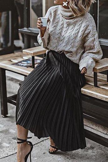 Take You There Pleated Midi Skirt