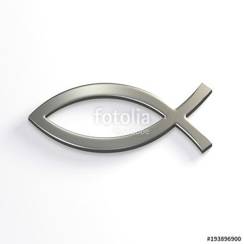 """""""Silver Christ Fish . 3D Render Illustration"""" Stock photo and royalty-free images on Fotolia.com - Pic 193896900"""