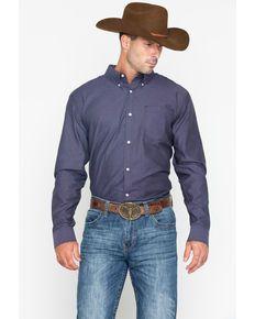 678adbb649 Cody Core Mens Purple Hazy Geo Print Long Sleeve Western Shirt