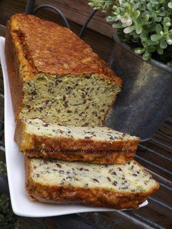 Cake à la courgette IG bas, à la farine de pois chiches sans gluten
