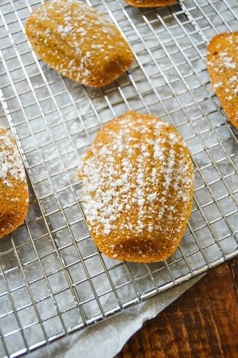 Brown Butter Pumpkin Madeleines
