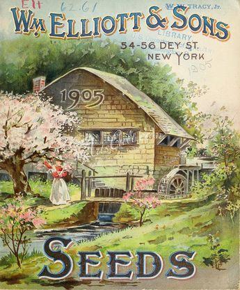 076-House, watermill, appletree, woman      ...