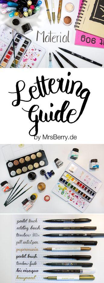 Lettering Guide: 1x1 des Hand Lettering - MrsBerry DIY & Reiseblog