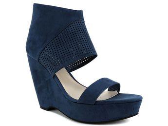 1c0cc48ad0b Bar III Women s Siren Platform Wedge Sandals Blue Wing Teal Suede Size 8.5  (B