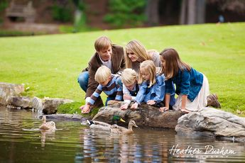 Fall portraits by a lake • Family portraits • Heather Durham Photography • Birmingham, AL family & kids photographer