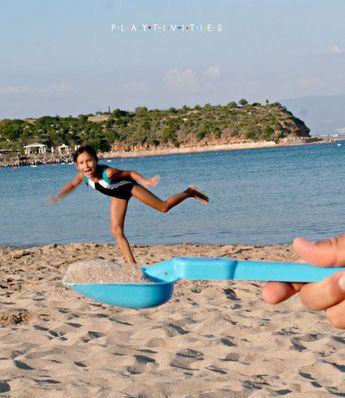 Perspectiva forzada. Fotos divertidas en la playa