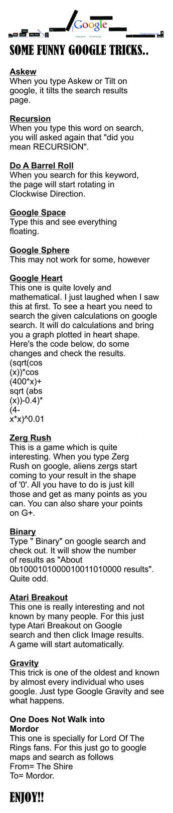 Google tricks!
