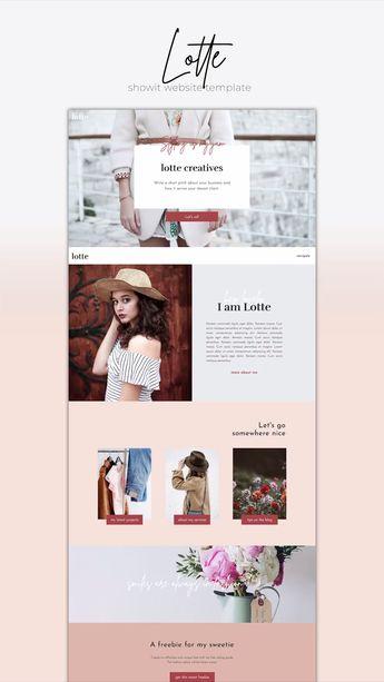 Lotte  - Showit | The Roar | Web Design for Creatives | Showit Website Templates