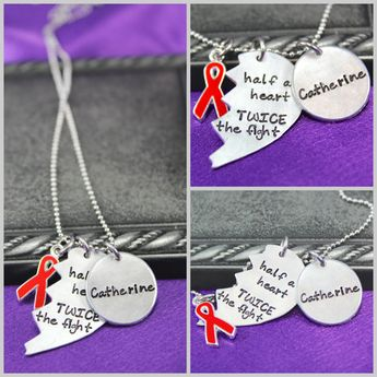 Personalized Neckalce Chd Awareness Jewelry Heart Defect Hand Stamped