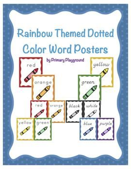 Cursive Alphabet Posters In Primary Colors Rainbow Theme