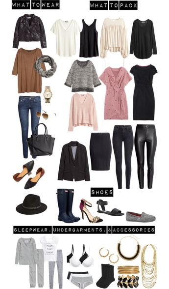 Spring Time Weather Packing List for a Carry-On
