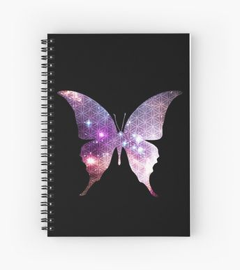 'The Sacred Nebula Butterfly, Sacred Geometry Space Art' Spiral Notebook by ChaosEmporium