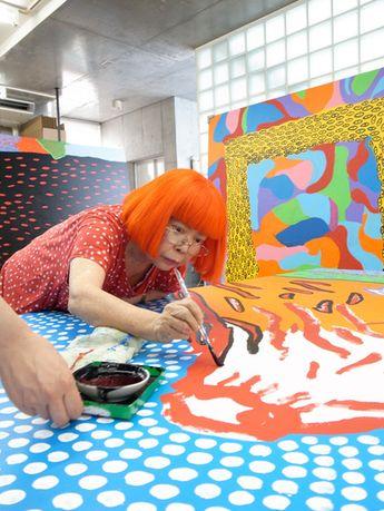 草間彌生の浮世絵が一般公開へ「わたしの富士山」展開催
