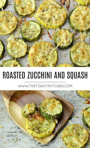 Roasted Zucchini and Squash - The Toasty Kitchen #roastedzucchini #roastedsquash #zucchinirecipes #squashrecipes #roastedvegetables #healthyrecipes #healthyeating #vegetablerecipes