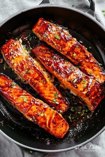 Salmon recipe pan seared oven baked #cafedelites #salmon #recipe