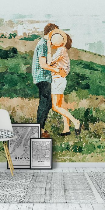 Togetherness Wall Mural / Wallpaper Art