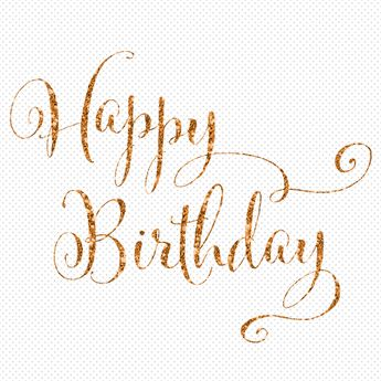 happy birthday calligraphy gold glitter animated wishes gif card