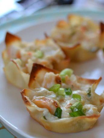 Triple Cheese Shrimp Dip Wontons | Small Town Woman
