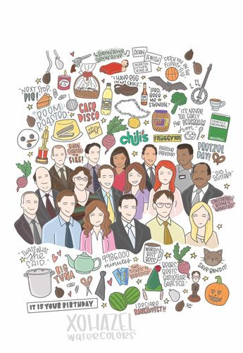 The Office Illustration Print