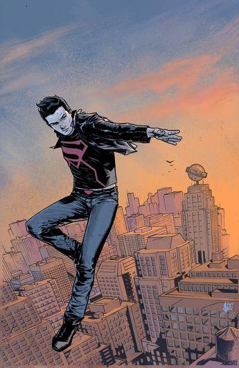 superboy over metropolis by benttibisson on DeviantArt