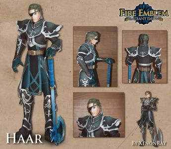 Fire Emblem - Dragonmaster Haar Paper Model - by Xenon Ray  ==          This is Haar, the Dragonmaster, character of the Nintendo`s videogame Fire Emblem. This cool paper model was creatred by designer Xenon Ray, from Hyrule Papercraft website.