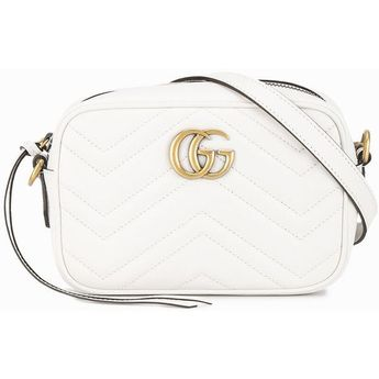 Gucci white GG Marmont matelassé bag ( 940) ❤ liked on Polyvore featuring  bags 1dd487f75305e