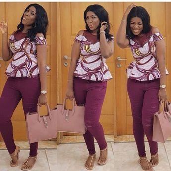 Linda Ikeji on Lovely and beautiful Ankara Top Styles