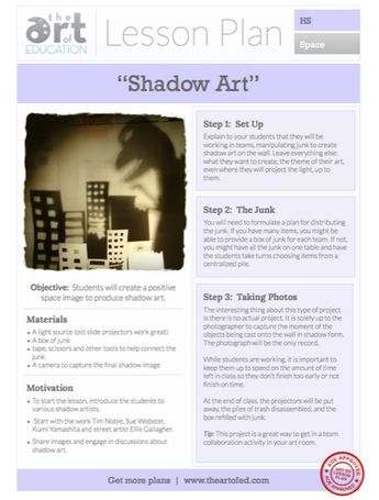 Creating Shadow Art: Free Lesson Plan Download