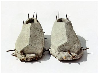 Le Corbusier shoes (1994 Reinforced concrete shoes Life-size Private collection, Santarcangelo)